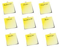 Group of Various Sticky Notes! vector / clip art Stock Images