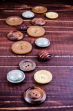 Group of various vintage sewing buttons Stock Images