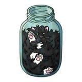 Liquid cat stock illustration