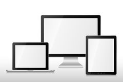 Group vector computers Stock Images