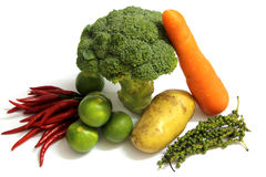 Group of vegetable food objects. BIG GROUP OF VEGETABLE FOOD OBJECTS Royalty Free Stock Photography