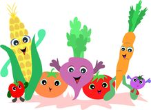Group of Vegetable Friends Stock Photos