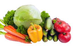 Group of vegetables Royalty Free Stock Photos