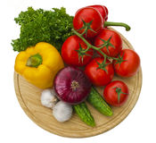 Group of vegetables on cutting board Stock Photography