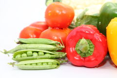 Group of Vegetables. Group different coloured vegetables Stock Photos