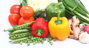 Group of Vegetables. Group different coloured vegetables and spices Stock Photo