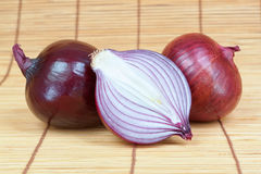 Group of vegetables fresh onion cut. Stock Photography