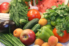 Group of vegetables and fruits Royalty Free Stock Photos