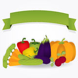 Group of vegetables with a ribbon. Royalty Free Stock Photo
