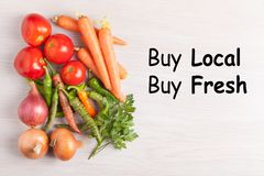Buy Local Food royalty free stock image