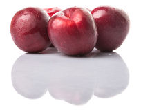 Group Of Victoria Plum Or Red Plum I Royalty Free Stock Photos