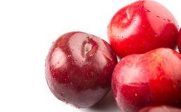 Group Of Victoria Plum Or Red Plum II Stock Photography