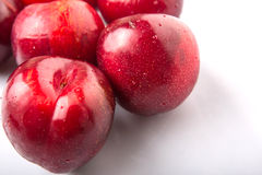 Group Of Victoria Plum Or Red Plum III Royalty Free Stock Images