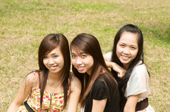 Group of Vietnamese Girl Stock Photography