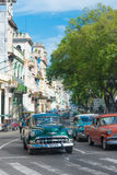 Group of vintage cars in Havana Royalty Free Stock Image