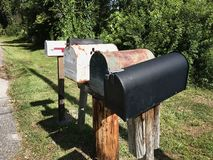 Group of Vintage Mail Boxes. Photo image Royalty Free Stock Image
