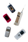 Group of vintage mobile phone Stock Photo