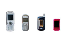 Group of vintage mobile phone Royalty Free Stock Photography