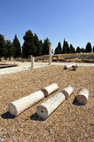 Group of visitors at the archaeological site of the Roman city of Italica, Andalusia, Spain Royalty Free Stock Photography