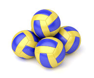 Group of volleyball balls Stock Photo