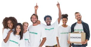 group of volunteers stock photos