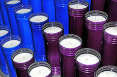 Group of votive candles Royalty Free Stock Photo