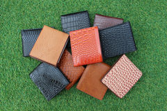Group wallets of leather Royalty Free Stock Image