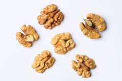 Group of Walnut Halves Royalty Free Stock Photo