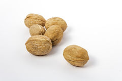 Group of walnuts Royalty Free Stock Photo