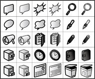 Group-ware Icons Stock Photography