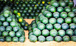 Group of water melon for sale Stock Photography