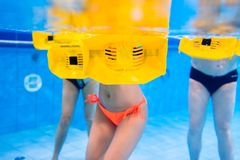 Group in water physical therapy training Royalty Free Stock Photo