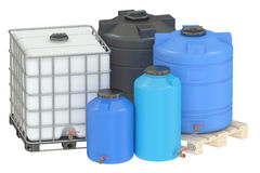 Group of water tanks Stock Photos