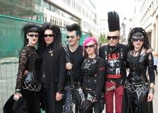 Group at Wave Gotik Treffen WGT royalty free stock photo