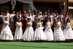 Group wedding in Bosnia Royalty Free Stock Image