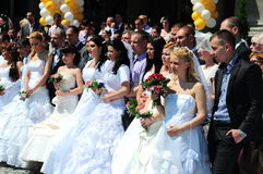 Group wedding ceremony Royalty Free Stock Photos