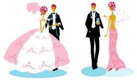Group Wedding Man Woman Bride Royalty Free Stock Image