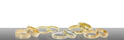 Group of wedding rings stock illustration