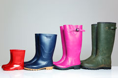 Group of wellie boots. A group of wellie boots Stock Images
