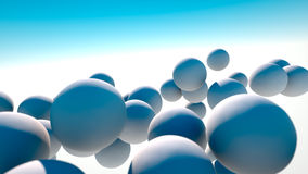 White spheres in the sky Royalty Free Stock Image