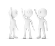 Group of white Businessman raising hand up ,clipping path includ Royalty Free Stock Image