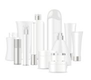 Group of white cosmetic tubes Royalty Free Stock Photography