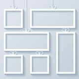 Group of White Frames Stock Image