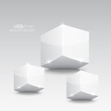 Group of white glossy cube Royalty Free Stock Photography
