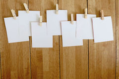 Group of white papers. The group of white papers Royalty Free Stock Photos