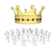 Group of white people worshiping crown Stock Photography