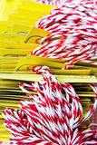 Group of white and red ropes Royalty Free Stock Photo