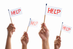 Group who need help Stock Image
