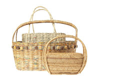 Group of wicker basket Stock Image