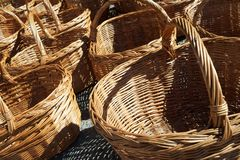 Wicker baskets view Stock Image